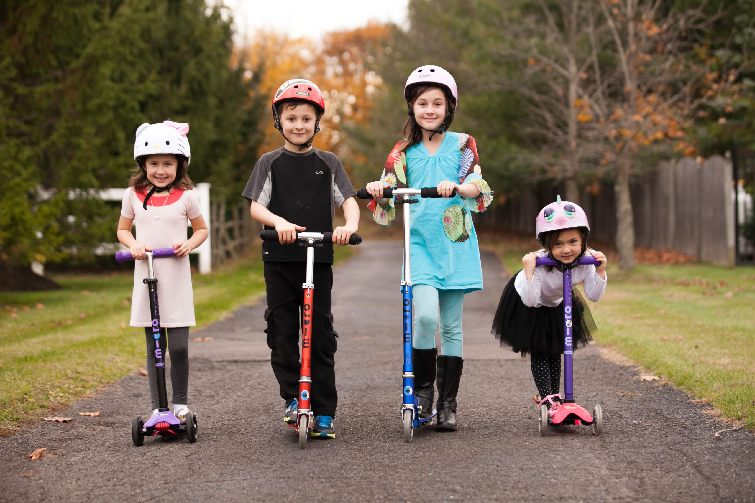 Children on Scooters