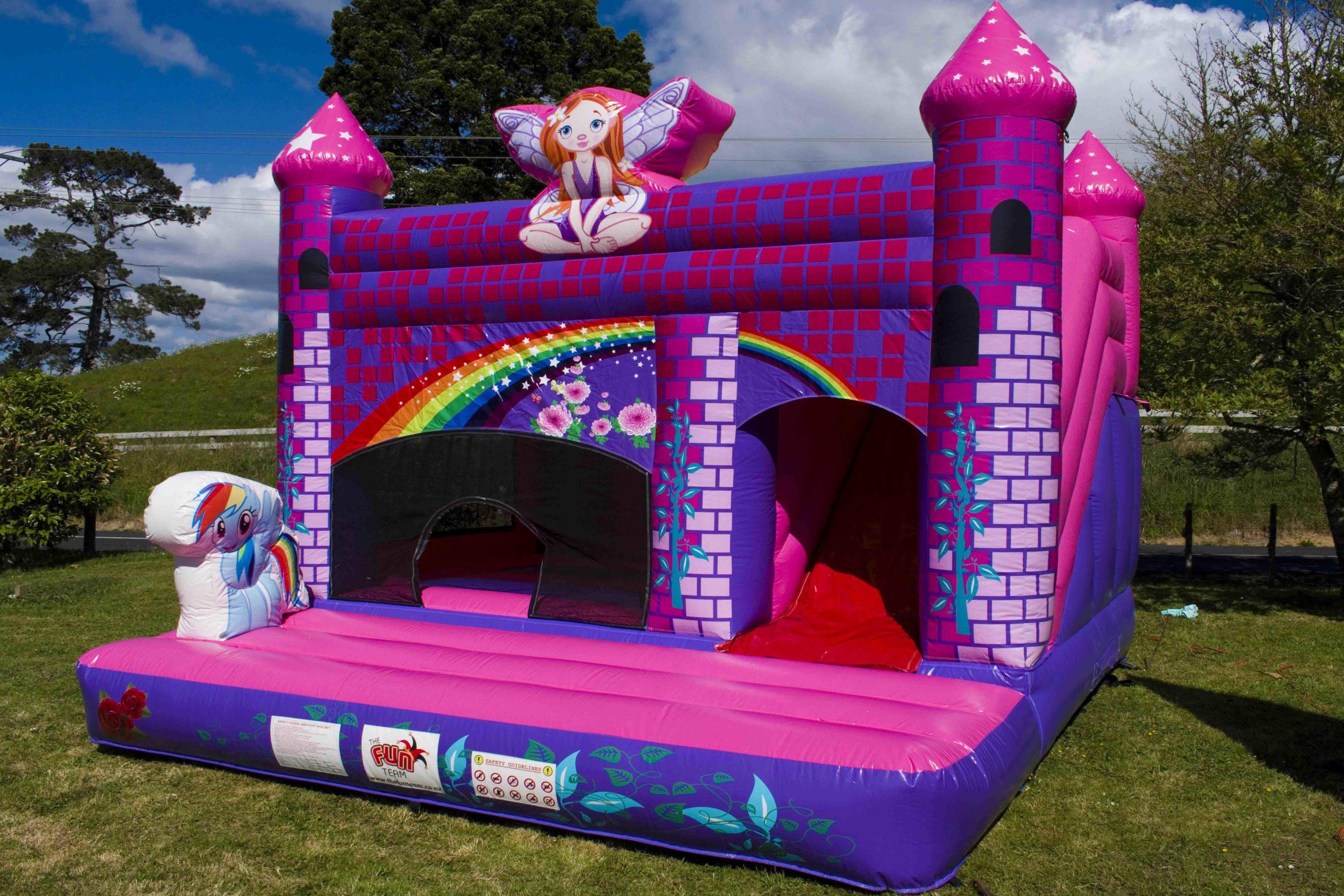 purple bouncy castle