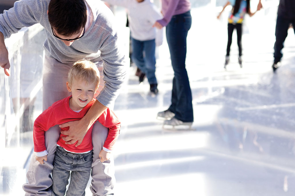 Father & son ice skating