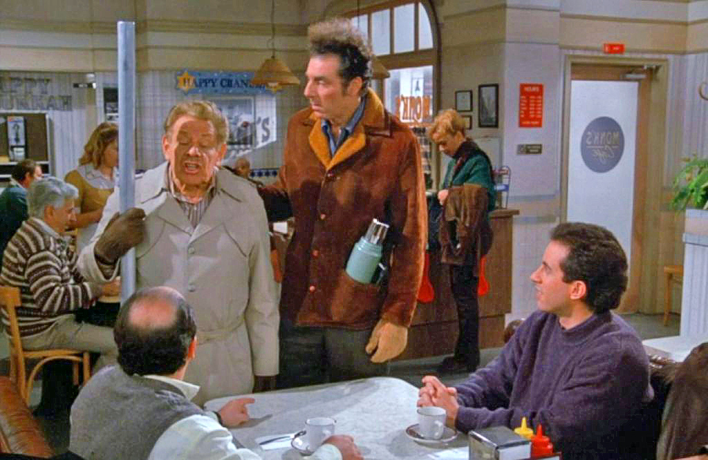 A scene from Seinfeld with actor Jerry Stiller