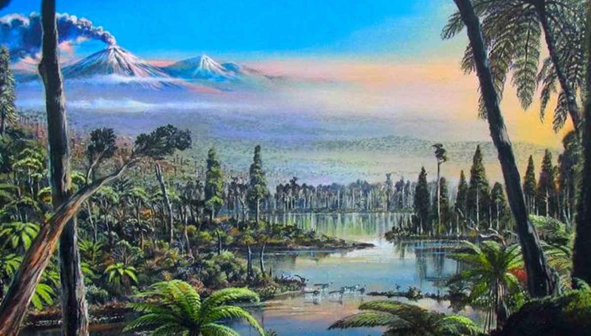 An imaginative rainforest scenery