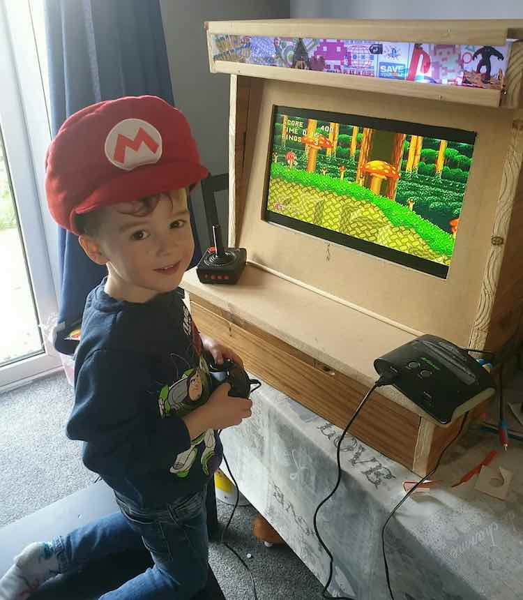 Little Felix with a Mario Hat On