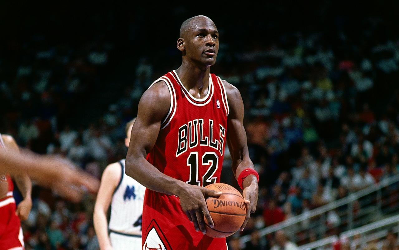 Michael Jordan on the field