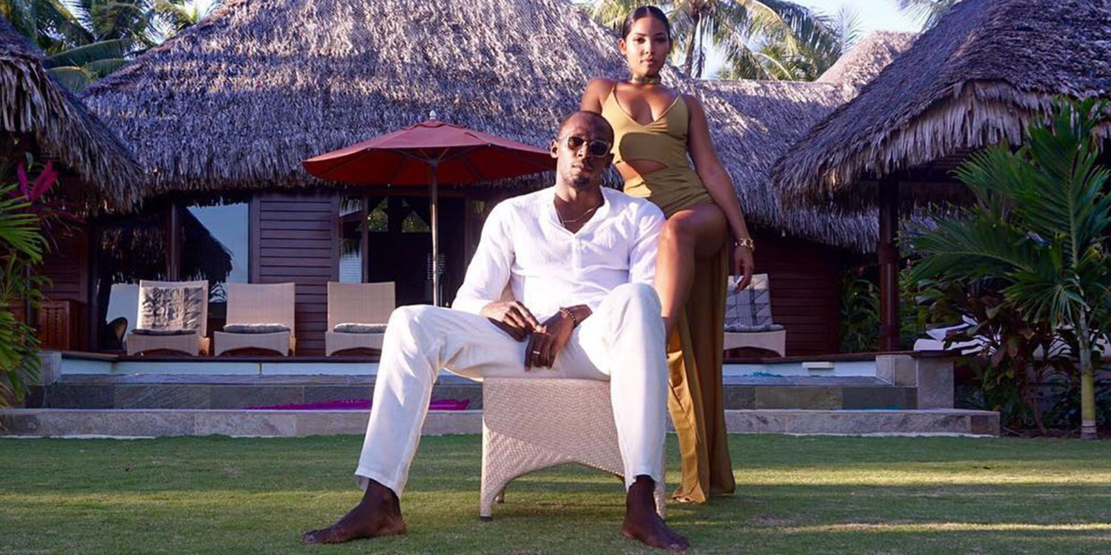 Usain Bolt with his girlfriend, Kasi J. Bennett