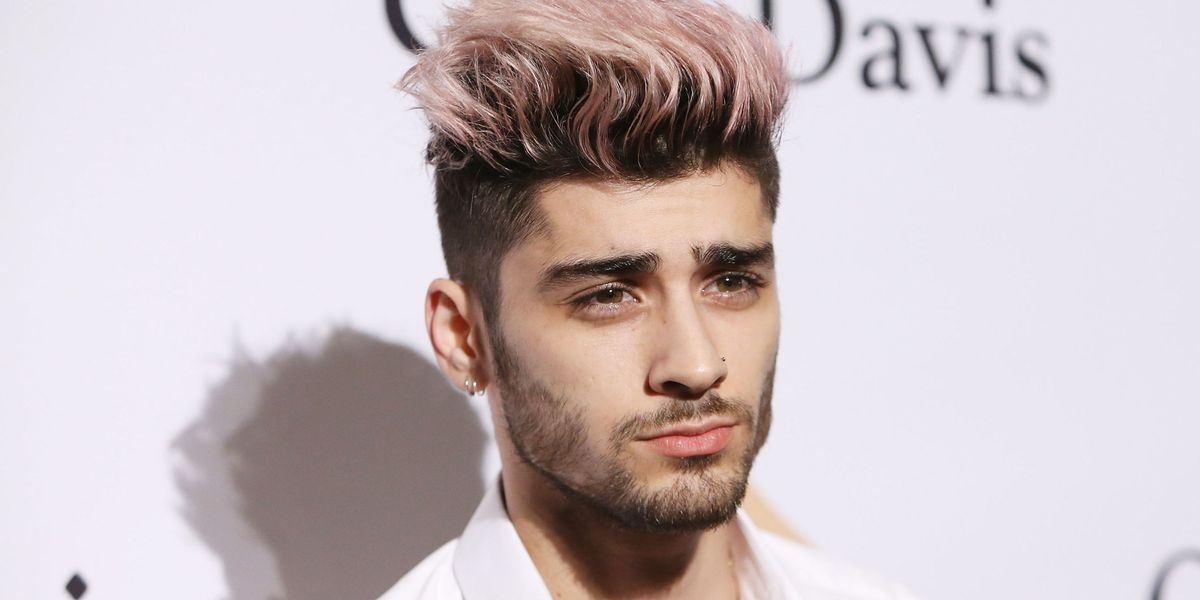 Singer Zayn Malik and his purple hair ends