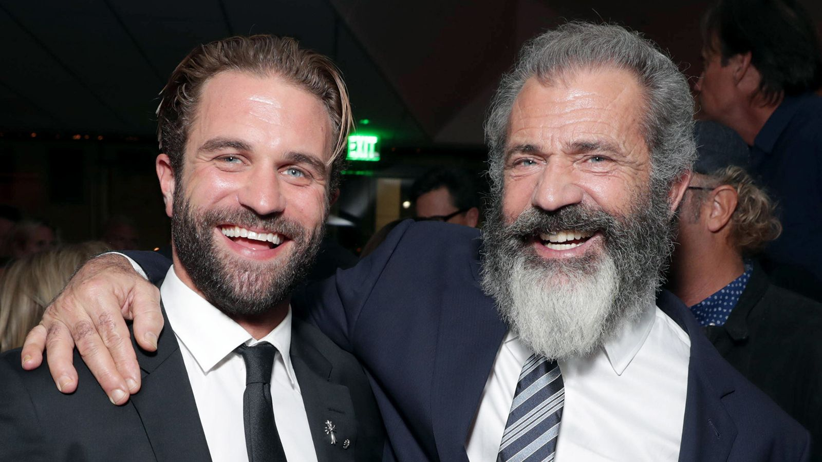 Actor Mel Gibson with his son Milo Gibson