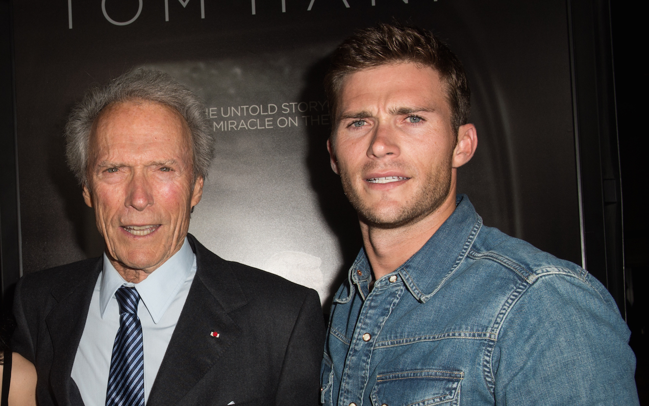 Actor and Director Clint Eastwood with his son Scott Eastwood