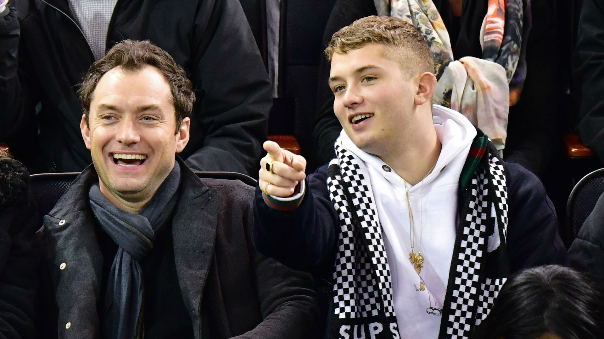 Actor Jude Law with his son Rafferty Law