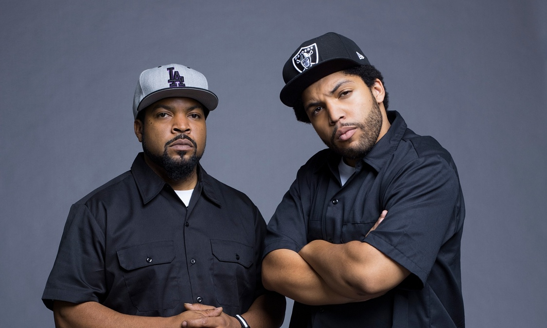 Rapper Ice Cube with his son O'Shea Jackson Jr.