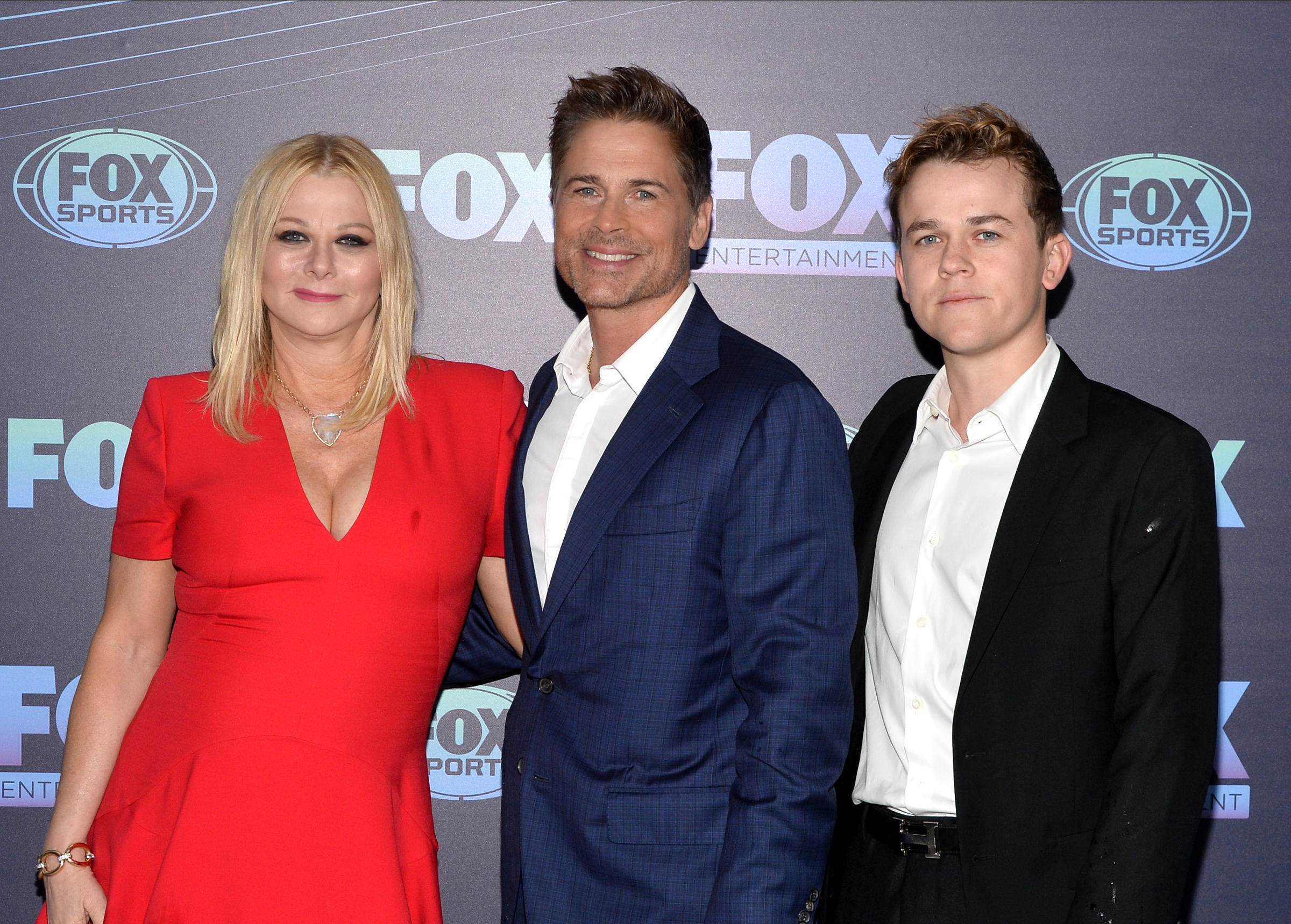 Actor Rob Lowe with his wife and son, John Lowe