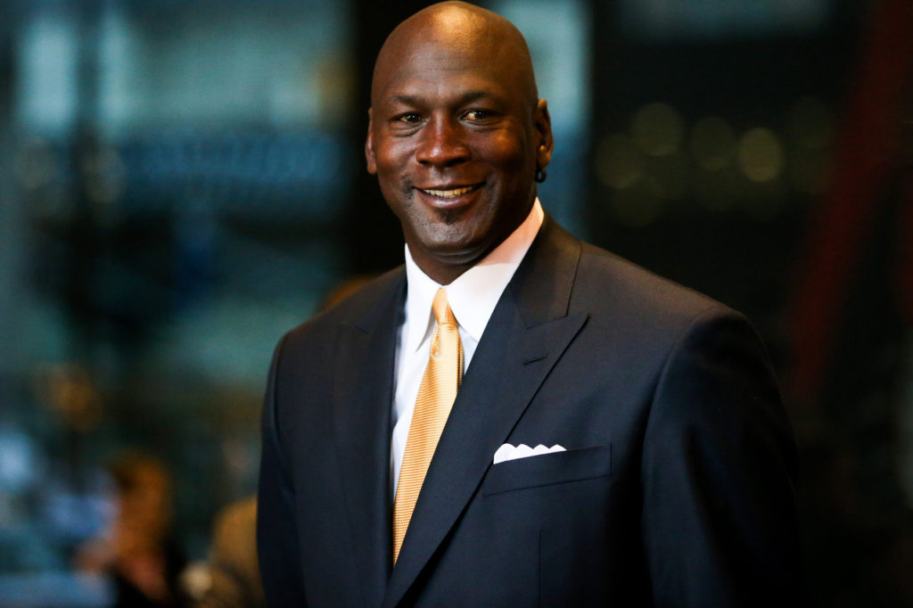 Michael Jordan dressed formally