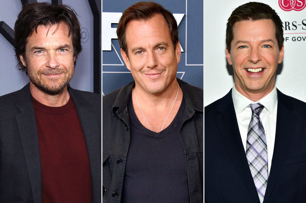 The three hosts of Smartless, Jason Bateman, Will Arnett, and Sean Hayes