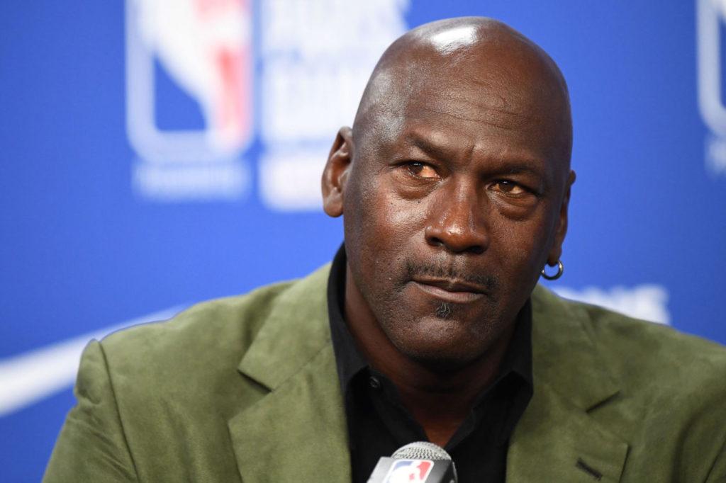 Michael Jordan at a press conference