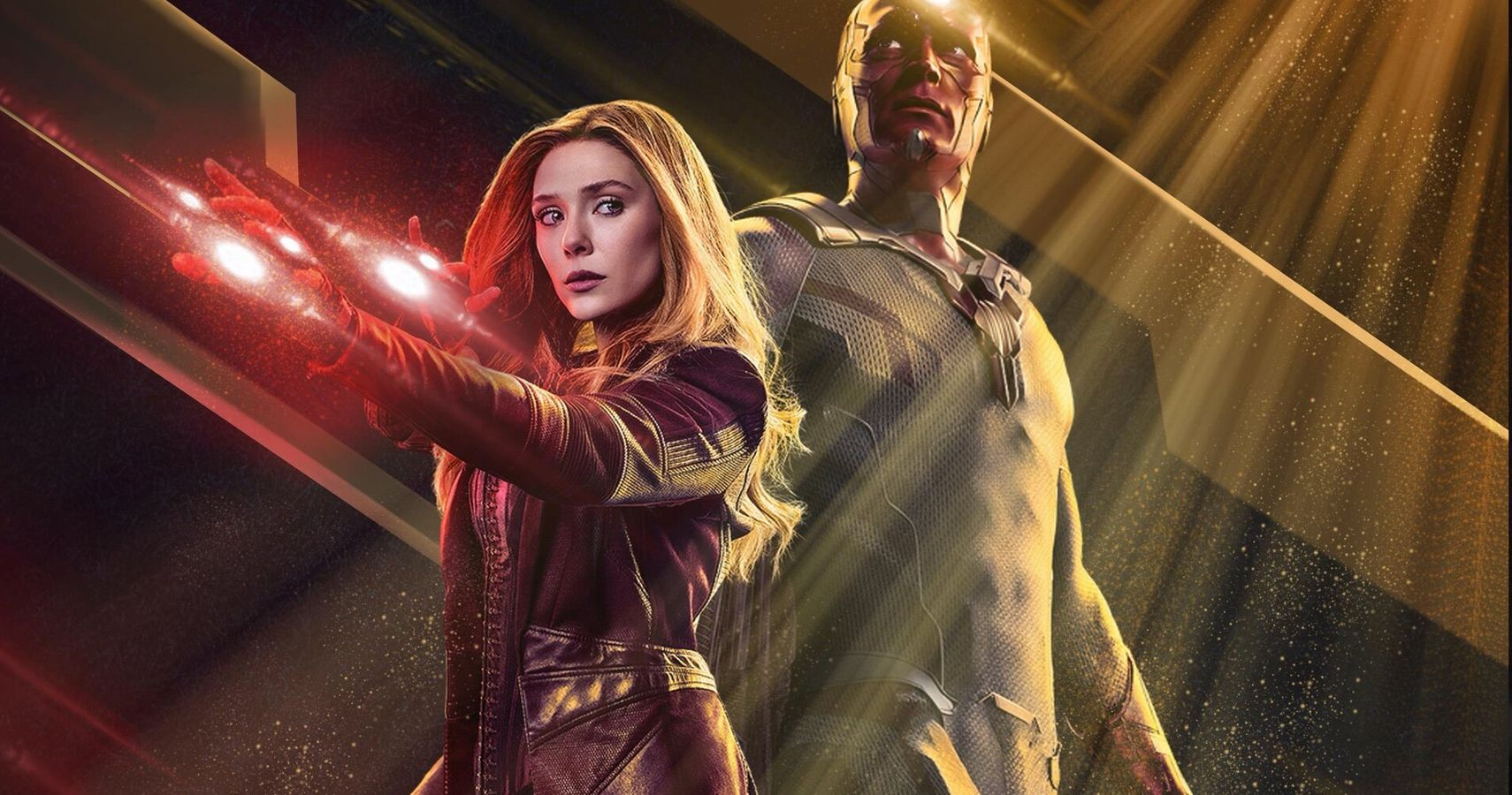 Marvel characters Wanda Maximoff and Vision portrayed by Elizabeth Olsen and Paul Bettany