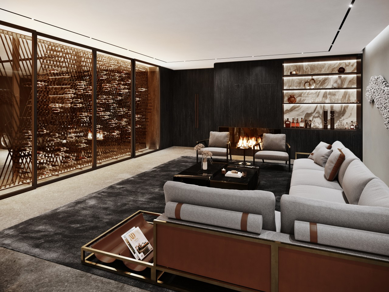 Aston Martin's private residence from the inside