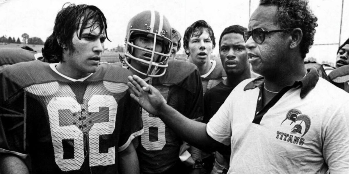 Real-life coach Herman Boone giving instructions to his players