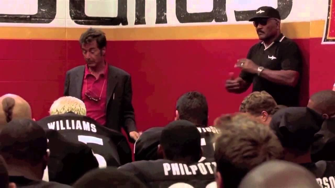 Coach D'Amato during his Inches speech