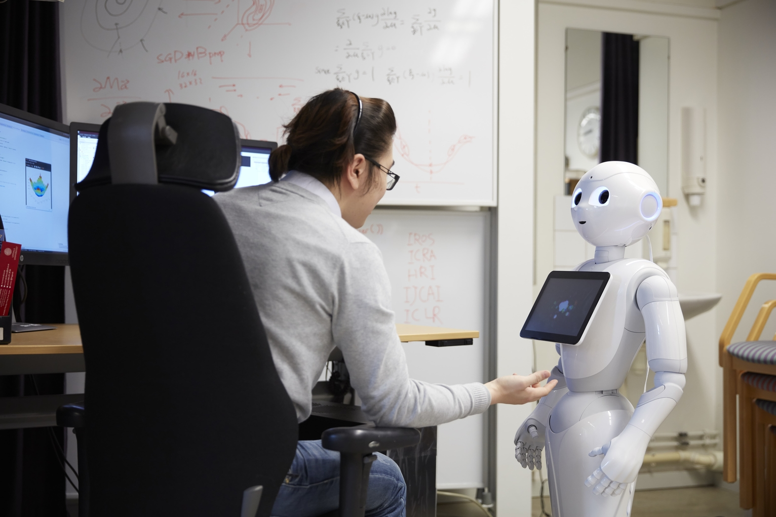 Social Robot Interacting With a Person