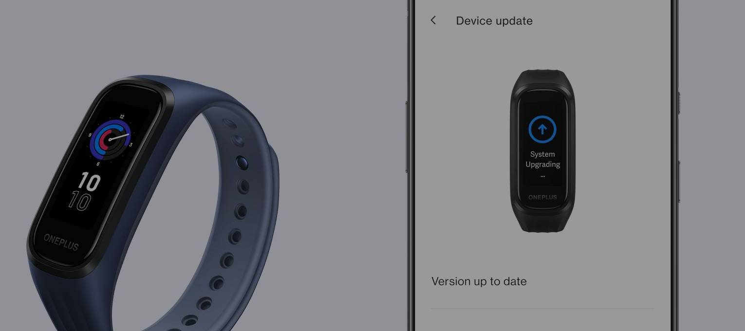 OnePlus Band Paired with an Android phone