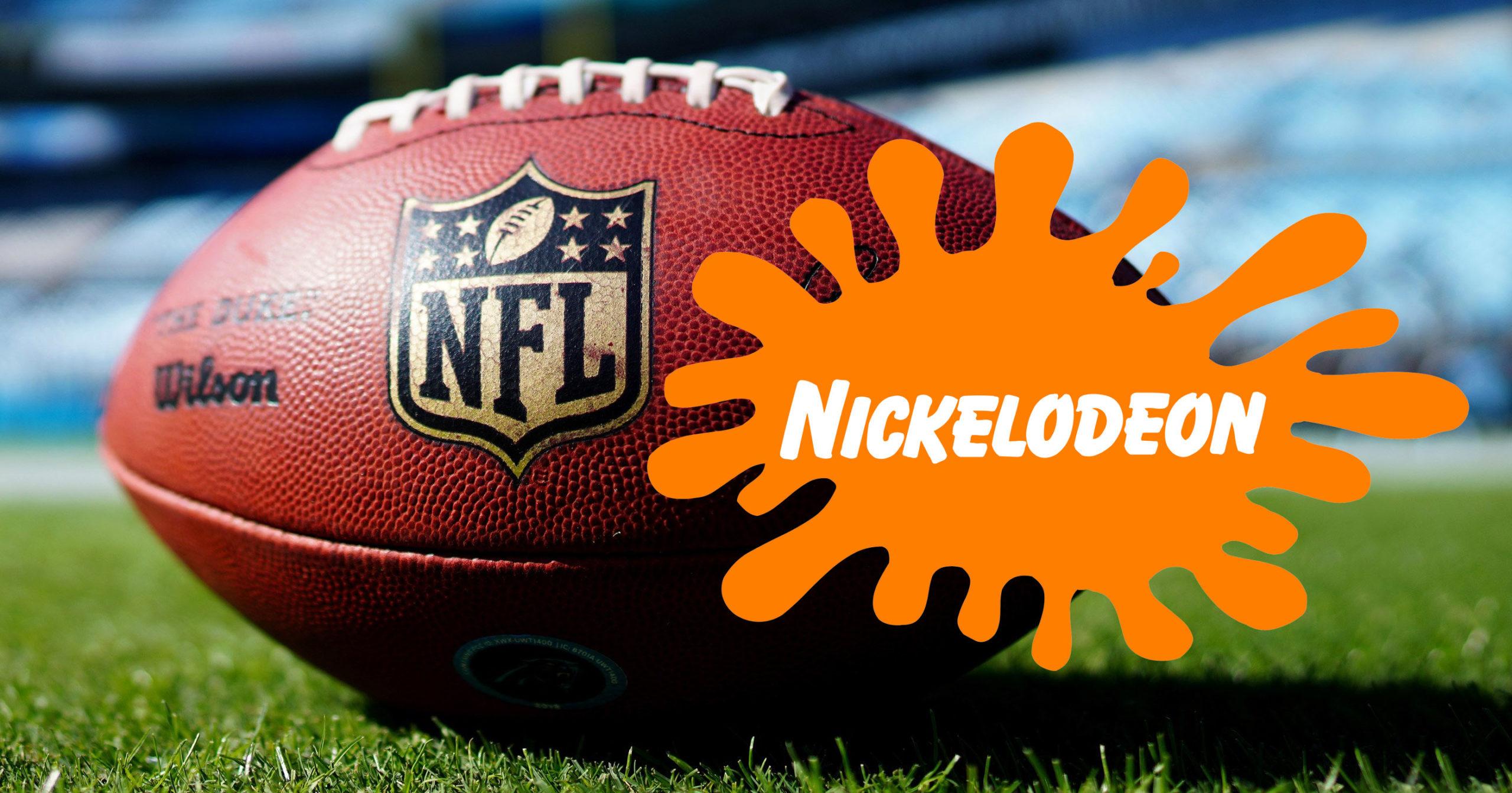 Nickelodeon NFL broadcast poster