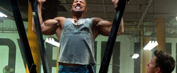 "Dwayne Johnson and Mark Wahlberg in the movie ""Pain & Gain"""