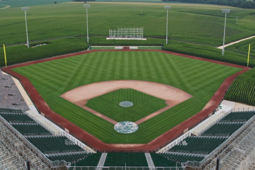 The Field of Dreams field being built.