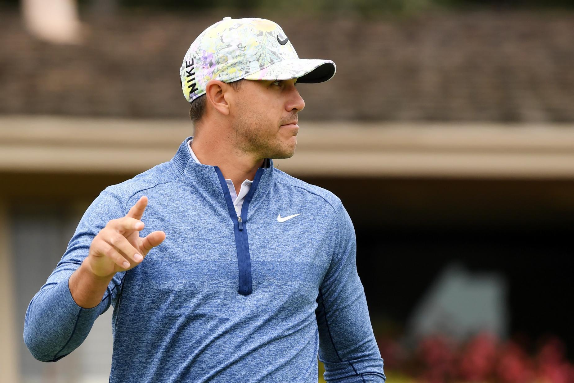 DeChambeau's rival Brooks Koepka wearing a Nike AeroBill Classic99 Printed Golf Hat during the 2019 U.S Open.